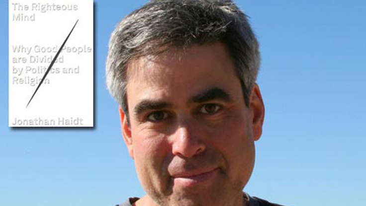 Jonathan Haidt's The Righteous Mind Debuts at #6 on NYT Bestseller List